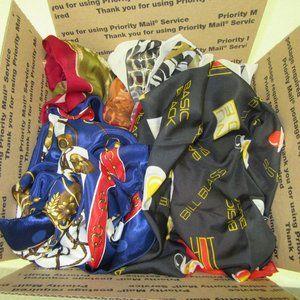 Scarves Lot of 22 silk Scarfs including Bill Blass